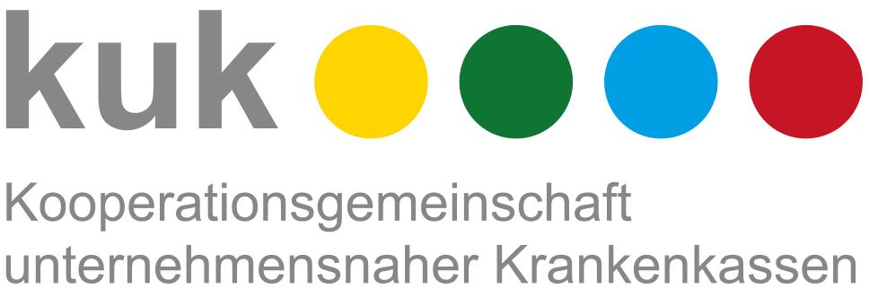 Logo der Kooperationsgemeinschaft unternehmensnaher Krankenkassen, kurz kuk.